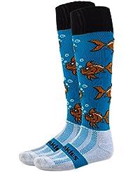 freakies garçon de poisson rouge longueur au genou chaussettes