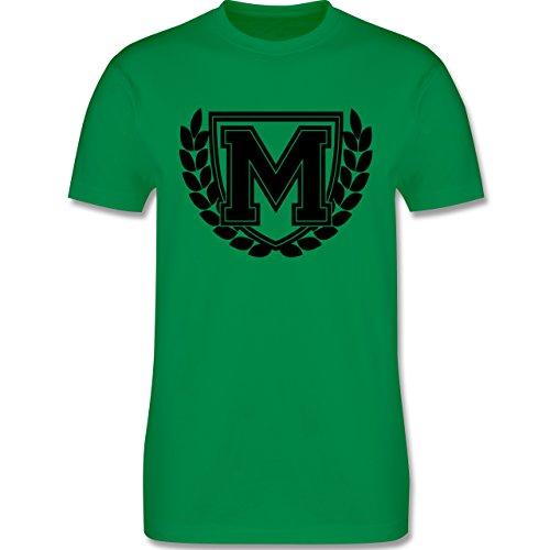 Anfangsbuchstaben - M Collegestyle - Herren Premium T-Shirt Grün