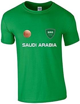 EBUK Arabia Saudí COPA DEL MUNDO 2018 Fútbol Retro Informales Camiseta Hombre No Oficial