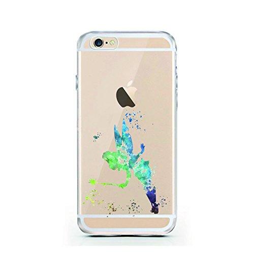 iPhone 5 5S SE Hülle von licaso® für das Apple iPhone 5SE aus TPU Silikon Apfel Apple-Juice Saft-Tüte Apfel-Saft Muster ultra-dünn schützt Dein iPhone 6 & ist stylisch Schutzhülle Bumper in einem (iPh Tinkerbell Aquarell