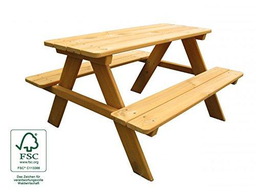 Kinder-Sitzgruppe Picknicktisch Spieltisch - kinderfreundlich lasiert, Holz FSC®