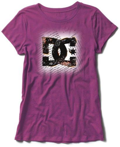 DC shoes newsprint t-shirt pour femme Violet - prune
