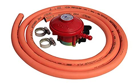 Boiling Ring Hose Kit Includes 27mm Clip On Propane Regulator