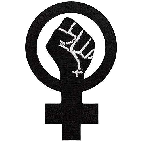 Grindstore - Parche con el símbolo feminista con puño (Tamaño Único) (Negro)
