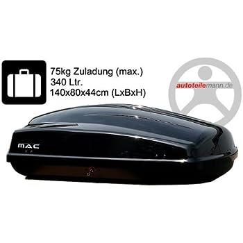 Modula Dachbox Ciao 340 Autobox schwarz glänzend