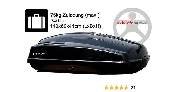 Modula Dachbox Ciao 340 Autobox Schwarz Glänzend Auto