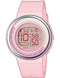 CASIO LDF304AEF - Reloj de mujer de cuarzo, correa de plástico color rosa