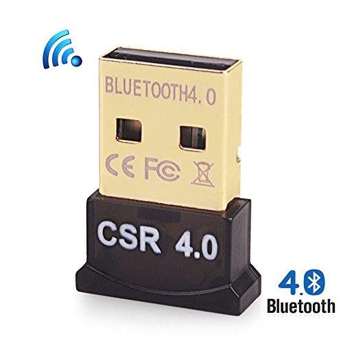 efanr Mini USB Bluetooth 4.0Adapter Computer Bluetooth Empfänger Transmitter Dual Mode Wireless Dongle für Tastatur-Maus Bluetooth Lautsprecher etc. unterstützt alle Windows 108.187XP Vista