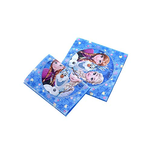 Frozen Theme Princess Anna Elsa Disposable Tablecloth Cup Plate Theme Party Baby Shower Birthday Party Decoration Supply,Napkins-10Pcs Anna Cup