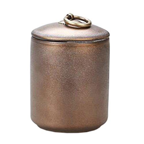 Alien-tee (Alien Storehouse Keramik Tee Kaffeebehälter Stylish Tee-Blatt Süßigkeiten Aufbewahrung Topf Tee Caddy Golden #02)