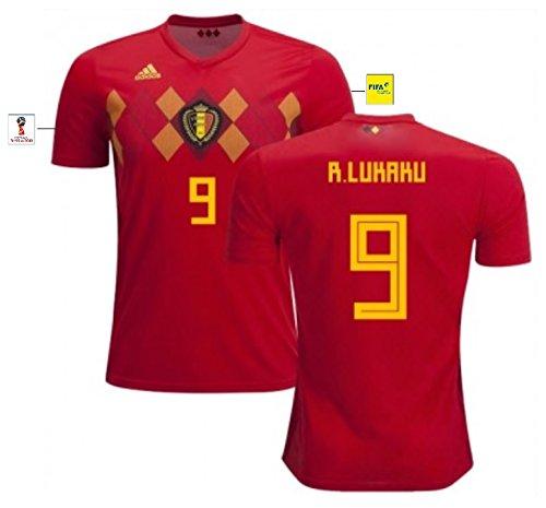 Trikot Herren Belgien WM 2018 Home - Lukaku 9 (XL)