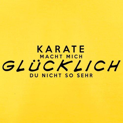 Karate macht mich glücklich - Herren T-Shirt - 13 Farben Gelb