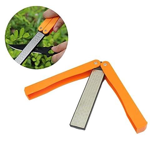 sunnymi Portable Sharpener Folding Grit Diamond Knife Sharpener Foldable Grindstone Handheld Sharpener Double Side Knife Sharpening Stone