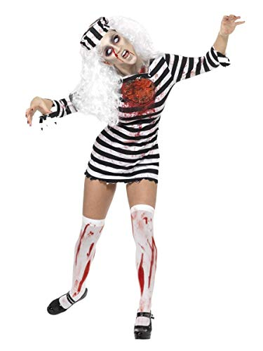 Fancy Me Damen Halloween Sexy Zombie Sträfling Gefangener unheimlich Kostüm Kleid Outfit UK 8-18 - Mehrfarbig, 8-10