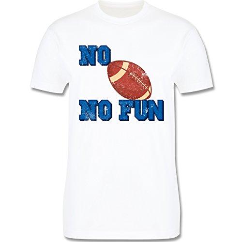 Sonstige Sportarten - No Football no Fun Vintage - Herren Premium T-Shirt  Weiß