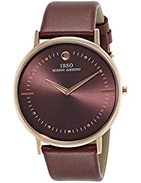 IBSO Analog Red Dial Men's Watch-16151GMR