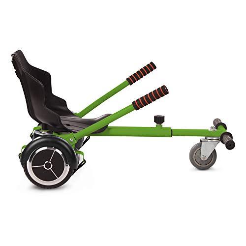 Tango Hoverkart Go-Kart Kit Patinete Eléctrico, Longitud Ajustable, Compatible 100% con Hoverboards - Hoverboard No Incluido (Verde)