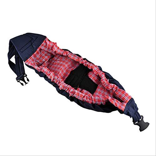 Wirtschaftliche Babytrage Vorderseite Bio-Baumwolle Stretch Sling Rucksack Säuglingsseite Wickelkorb für Babypflege1stücke 5 Farben OneSize rosa gitter1 (Gitter-sling-rucksack)
