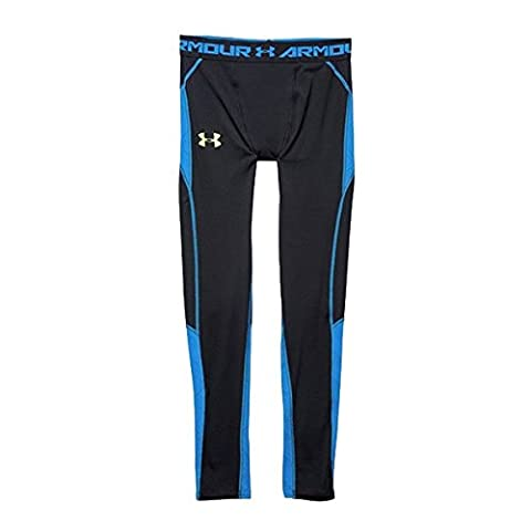 2015 Under Armour Heatgear Mens ArmourVent Compression Baselayer Leggings Black/Blue Jet XXL