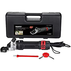 yaufey 380W Cheveux Tondeuse Mouton Chèvre électrique Professionnelle Cisaillement Animal Tondeuse Fournitures De Bureau Kit, Cisailles de Clippers Animaux Shave Toilettage Ferme Pet Supplies élevage