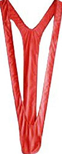 Creamlin Herren Sexy Borat Manikini Badeanzug Thong Halloween Kostüm Weihnachtsgeschenk (Rot)
