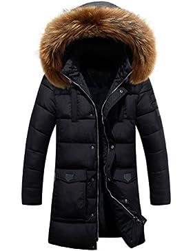 Zhuhaitf ropa de calle Men's Hat Detachable Outwear Winter Long Hooded Coat Warm Windbreaker Jacket