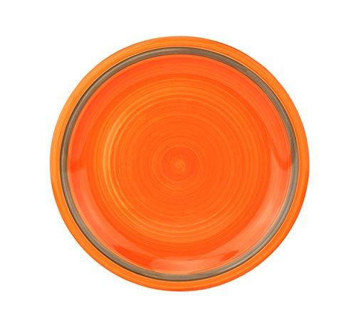 Dekor Taupe Hochzeit (Rose & Tulipani Speiseteller Riviera, Ø 270 mm, orange-taupe, großer Essteller, Menüteller flach, Servierplatte rund, Gastro-Geschirr, abstrakt)