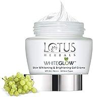 Lotus Herbals Whiteglow Skin Whitening And Brightening Gel Cream   SPF 25   60g