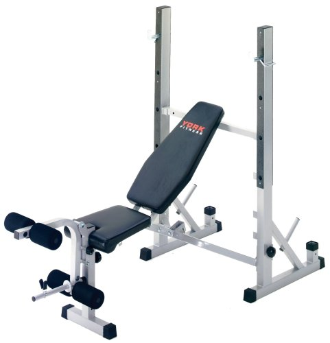 York Fitness Heavy Duty 2 in 1 Barbell Bench Squat Stand   HIIt Fitness