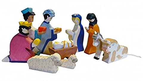 Krippenfiguren Set 10-teilig Holztiger