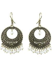 Traditional & Imitation Jewellery - Waama Jewels Jewellery Antique Gold Plated Chandeliers Earrings For Women...