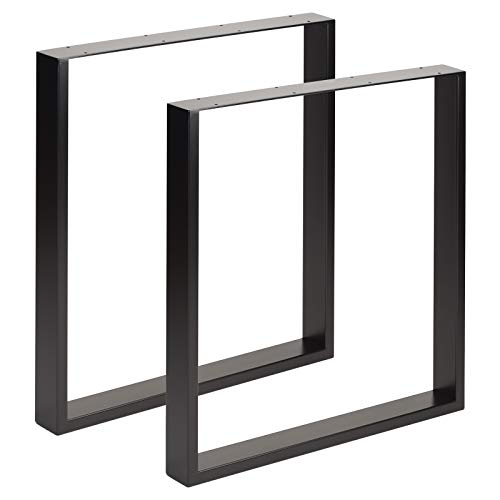 Hartleys Quadrat-Tischbeine im Bauhaus-Stil - Verschiedene Größen & Farben - Quadratische Metall-tischbeine