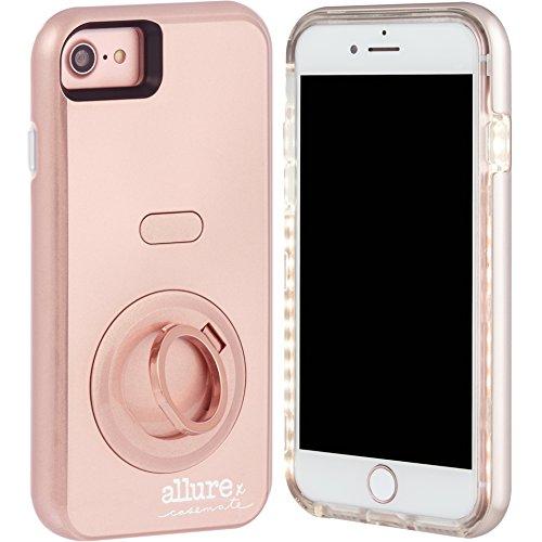Case-Mate Allure Selfie LED Licht Hülle für iPhone 7//6S/6-Rose Gold -
