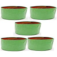 COIR GARDEN HDPE Grow Bags for Vegetable Plants, Spinach (18 x 9 Inches) - Pack of 5