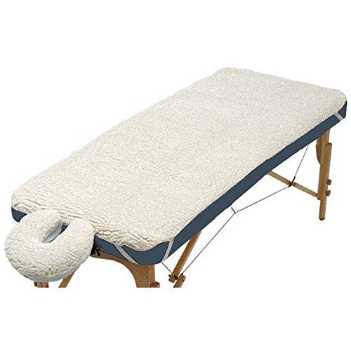 Porta-Lite Set mit Fleecebezug und Gesichtskissenbezug für Massageliegen, für alle Standardgesichtskissen/-massageliegen, 2,5cm dicke Polsterung, Natur -