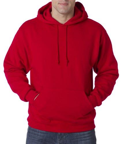 Wei§er Fu§ball auf American Apparel Fine Jersey Shirt Rot (True rot)