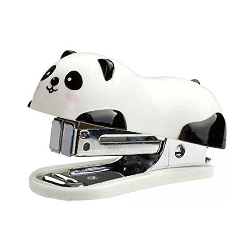 Hand Hefter mit Panda, für Schule, zu Hause, Büro, 2Stück niedliche Mini Desktop Heftgerät