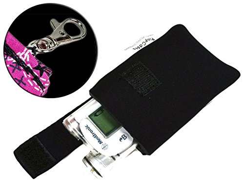 medtronic-w-keychain-clip-black-4mm-insulated-neoprene-diabetic-insulin-pump-case-medtronic-w-keycha