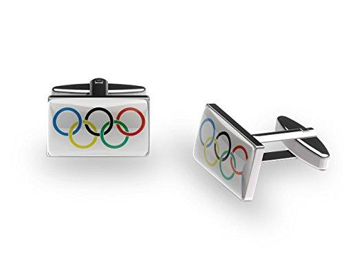 Cuffs 'N' Collars Olympic Rings Boutons de manchette (avec boîte cadeau)