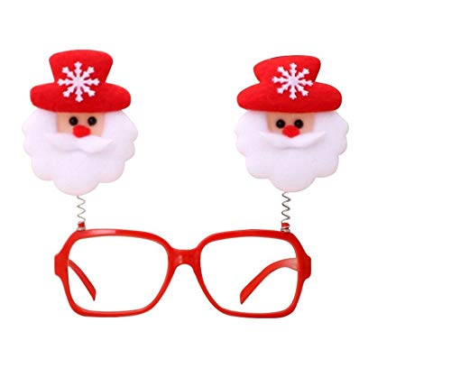 Fashion Christmas Glasses Adult Children Party Eyeglasses Santa Snowman Elk Glasses Frame Pack of 4