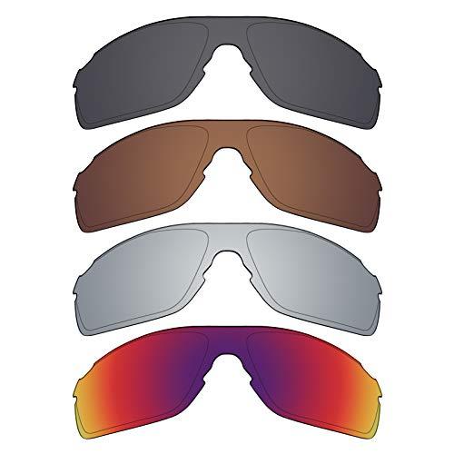 Mryok polarisierte Ersatzgläser für Oakley EVZero Pitch Sonnenbrille - Stealth Black/Bronze Brown/Silver Titanium/Midnight Sun