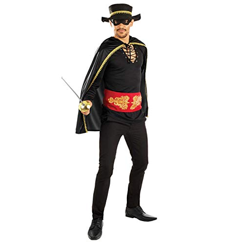 (Fun Shack Herren Costume Kostüm, Mens Zorro, m)