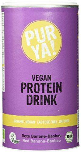 Purya Bio Vegan Protein Drink Rote Banane-Baobab, 1er Pack (1 x 550 g)