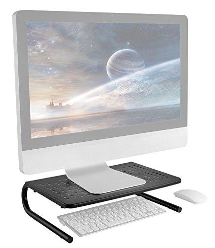 RICOO Monitorständer FS082B Universal Monitorstandfuß Bildschirmständer Apple Monitor Erhöhung Podest Organizer Standfuß Rack 28-84cm 11
