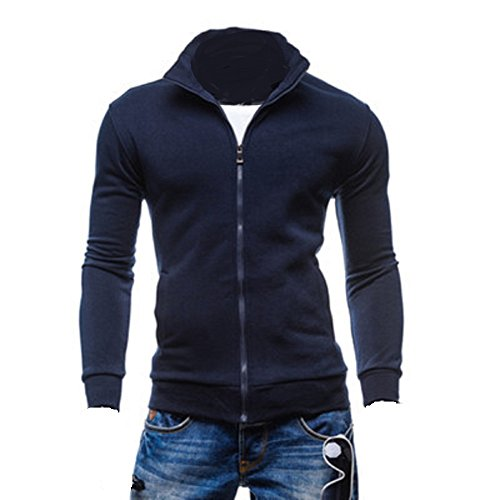 BOMOVO- Felpa giacca- Con cerniera- Cardigan- Moda-