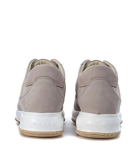Sneaker Hogan Interactive in nabuk beige Grigio