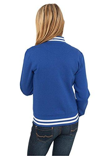 urban classics wmns ladies college sweatjacket turquoise