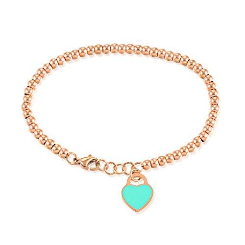 ZoraQ Schöne Mode Armband Dekoration Mode Einfache Armband mit herzförmigen Anhänger Lady Perlen...