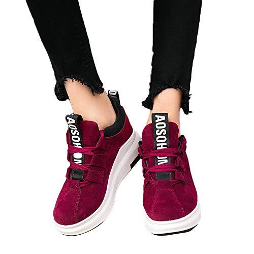 MYMYG Sneakers Damen Turnschuhe High Top Laufschuhe Wanderschuhe Sportschuhe Mode Frauen Lace-up Erhöhung Schuhe Soft Bottom Rocking ()