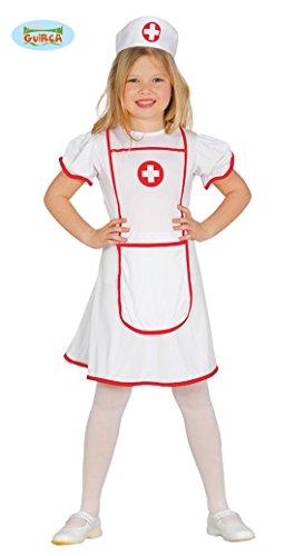 Gallischer–Kostüm Krankenschwester crocerossina Girls, 7–9Jahre, 85947. (Mädchen Dress Up Doktor)